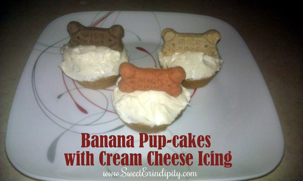 Banana Pupcakes with Cream Cheese Icing!