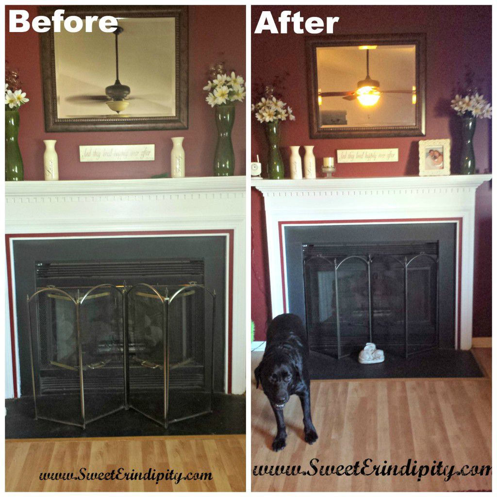 Fireplace Before and After