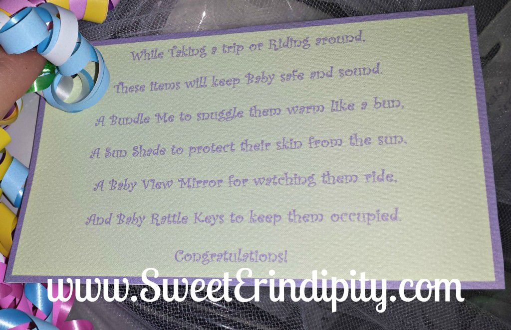 Car Baby Item Poem ~ SweetErindipity.com