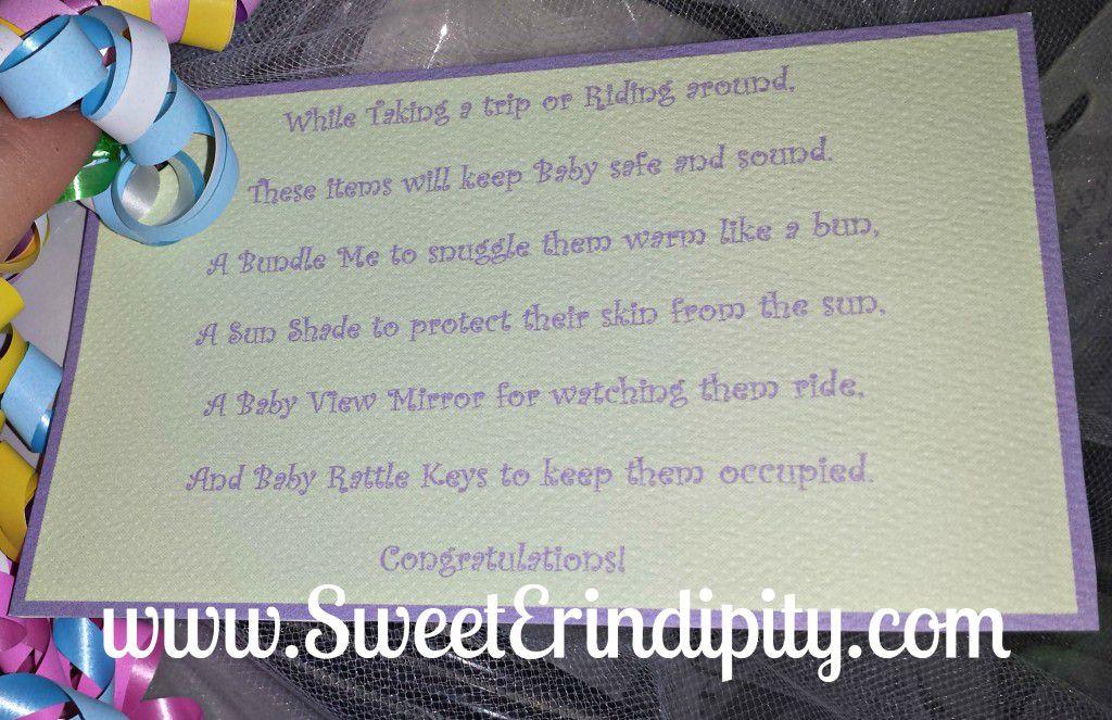 Car Baby Item Poem ~ SweetErindipity.com